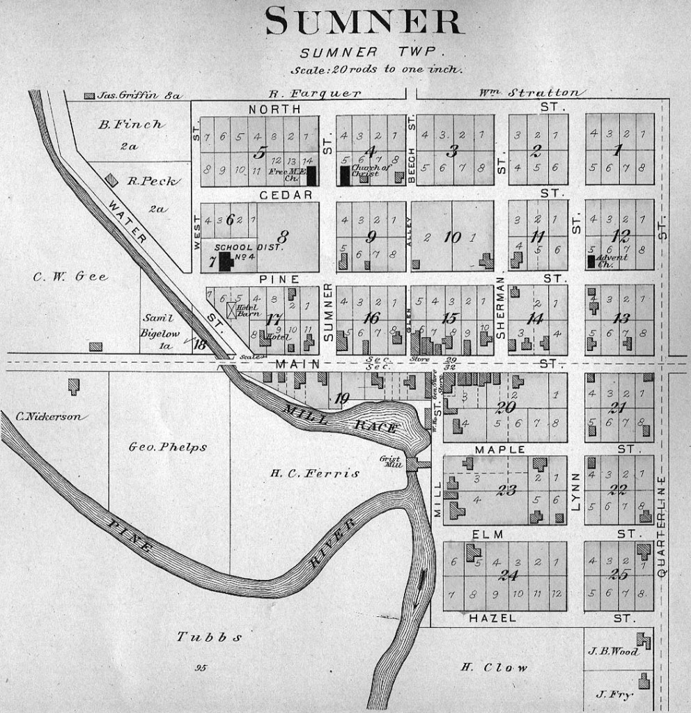 Map of Sumner in 1901