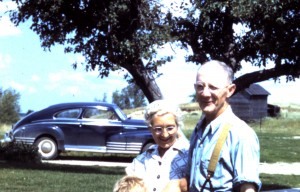 """Auntie"" Clara McCoy and Harry McCoy in 1950"
